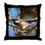 Chickadee in Tree Throw Pillow