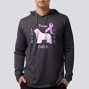 Pink Newfoundland Dog Mens Hooded Shirt