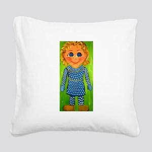 Mrs. Beasley Square Canvas Pillow