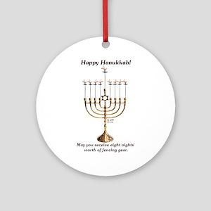 Fencing Hanukkah Ornament (Round)