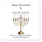 Fencing Hanukkah Square Car Magnet 3