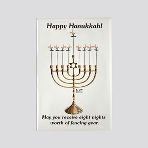 Fencing Hanukkah Rectangle Magnet