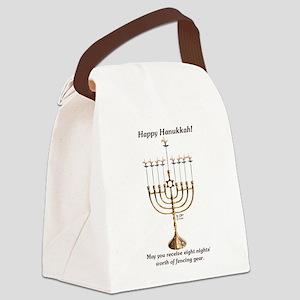 Fencing Hanukkah Canvas Lunch Bag