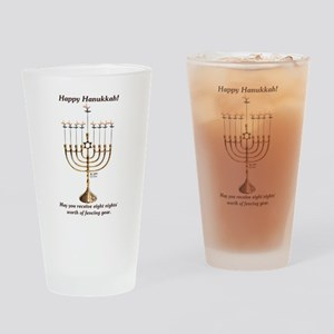 Fencing Hanukkah Drinking Glass