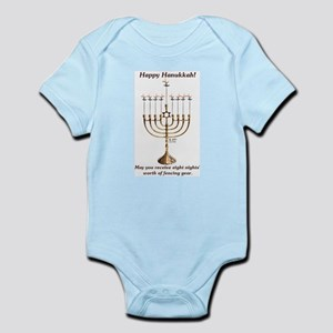 Fencing Hanukkah Infant Bodysuit