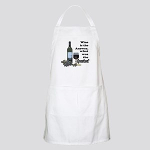 Wine is the answer ~ what was the question? Apron