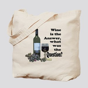 Wine is the answer ~ what was the question? Tote B