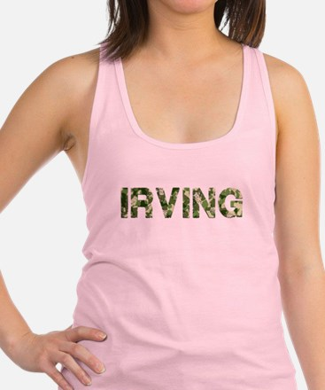 Irving, Vintage Camo, Racerback Tank Top