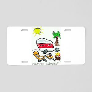 Retro Camper Aluminum License Plate