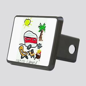 Retro Camper Rectangular Hitch Cover