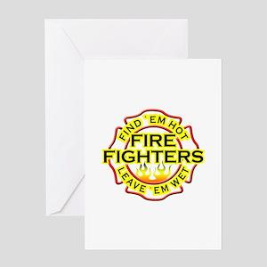 Find 'em hot, leave 'em wet! Greeting Card