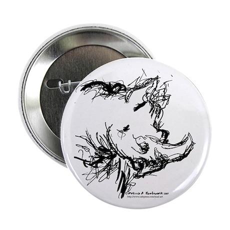 Black Rhinoceros Button