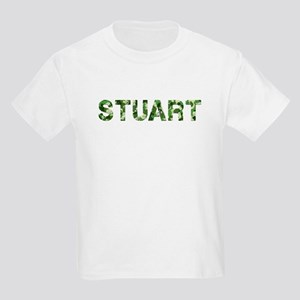 Stuart, Vintage Camo, Kids Light T-Shirt
