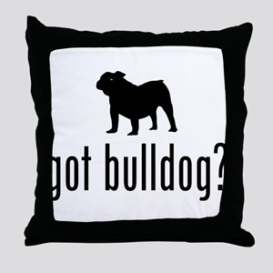 Old English Bulldog Throw Pillow