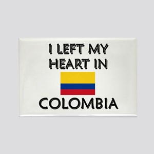 I Left My Heart In Colombia Rectangle Magnet