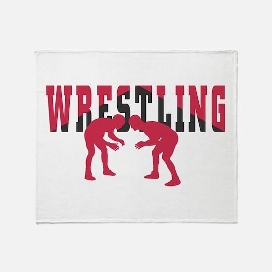 Wrestling 2 Throw Blanket