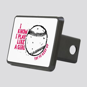 I Know I Play Like A Girl Rectangular Hitch Cover