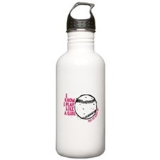 I Know I Play Like A Girl Stainless Water Bottle 1