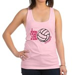 Play Volleyball Like a Girl Racerback Tank Top