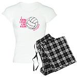Play Volleyball Like a Girl Women's Light Pajamas