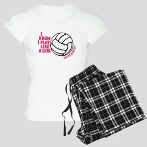 Play Volleyball Like a Girl Women's Light Pajamas