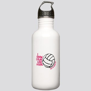 Play Volleyball Like a Girl Stainless Water Bottle