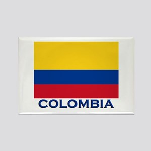 Colombia Flag Gear Rectangle Magnet