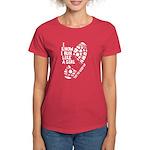 I Know I Run Like a Girl Women's Dark T-Shirt