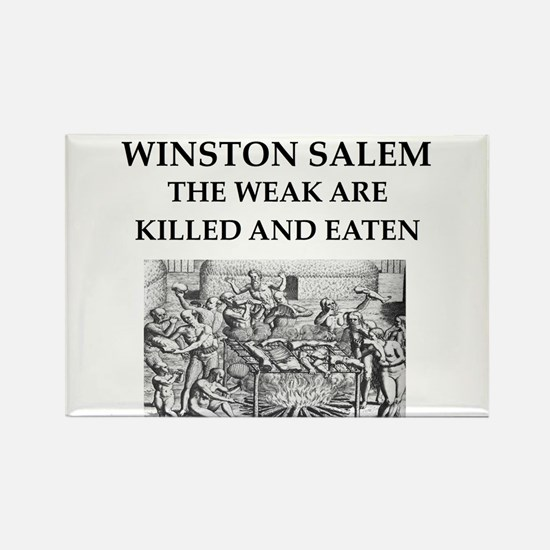 winston salem Rectangle Magnet