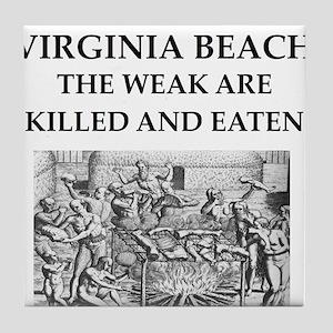 virginia,beach Tile Coaster