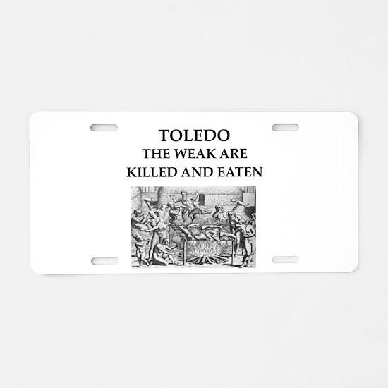 toledo Aluminum License Plate