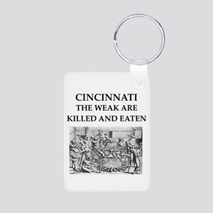 cincinnati Aluminum Photo Keychain