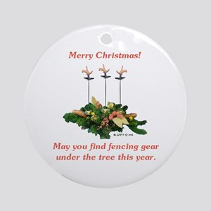Fencing Christmas Ornament (Round)