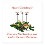 Fencing Christmas Square Car Magnet 3