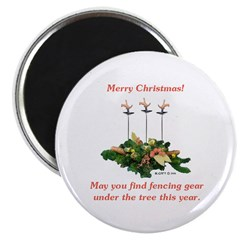 Fencing Christmas Magnet
