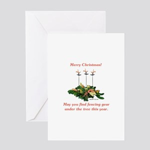 Fencing Christmas Greeting Card