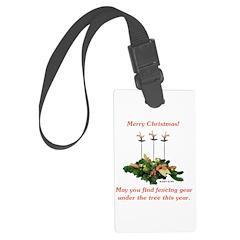 Fencing Christmas Luggage Tag