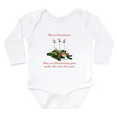 Fencing Christmas Long Sleeve Infant Bodysuit