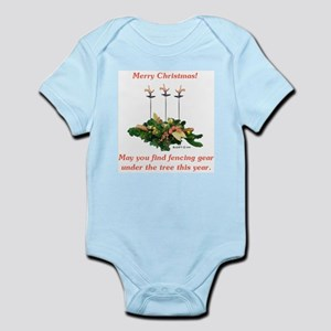 Fencing Christmas Infant Bodysuit