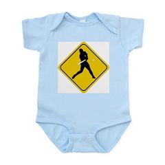Baseball Crossing Sign Infant Bodysuit