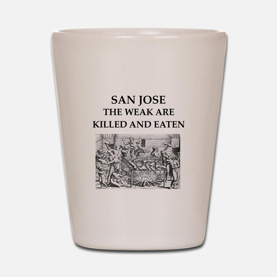 san jose Shot Glass