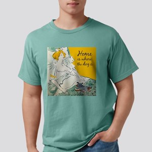 Home is Where the Dog is Mens Comfort Colors Shirt