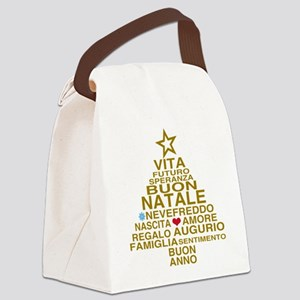 Buon Natale Canvas Lunch Bag