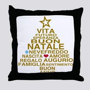 Buon Natale Throw Pillow
