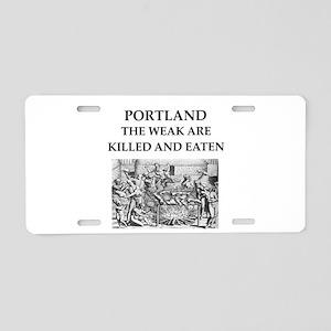 portland Aluminum License Plate