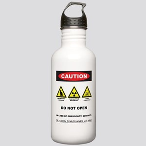 Caution! Schrodinger's Cat Stainless Water Bottle