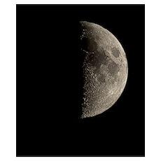 Waxing half Moon Poster