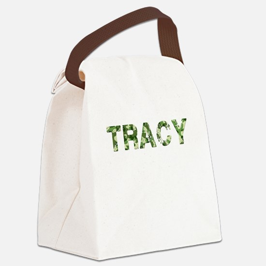 Tracy, Vintage Camo, Canvas Lunch Bag