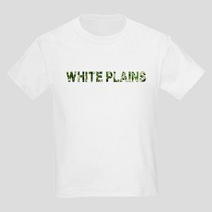 White Plains, Vintage Camo, Kids Light T-Shirt