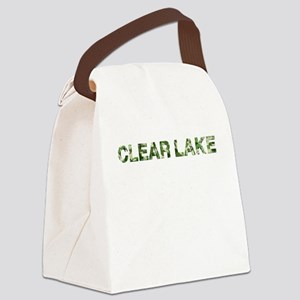 Clear Lake, Vintage Camo, Canvas Lunch Bag